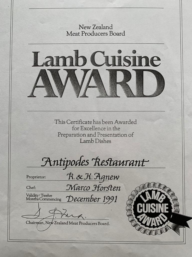 Lamb Cuisine Award